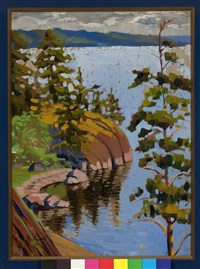 pines in karelia by nikolai konstantinovich roerich