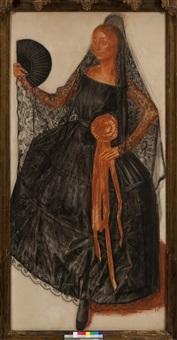 anna pavlova -triptych of portraits by alexander evgenievich iacovleff
