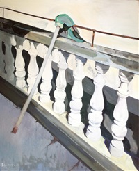 the mop on balcony by xiao jiang