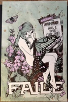 butterfly girl by faile