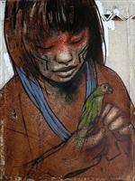 menina com pássaro (girl with bird) by elon brasil
