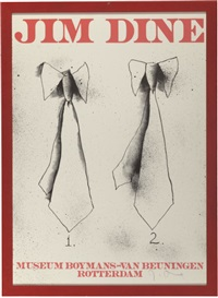 jim dine exhibition posters (suite of 4) by jim dine