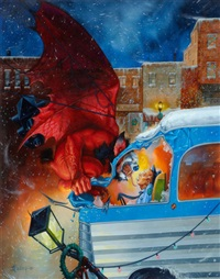 13th and vine, amazing calendar illustration by jeff easley
