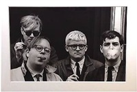 warhol, geldzahler, hockney and goodman by dennis hopper