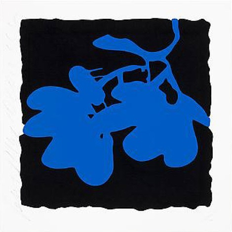 lantern flowers- blue, may 10, 2012 by donald sultan