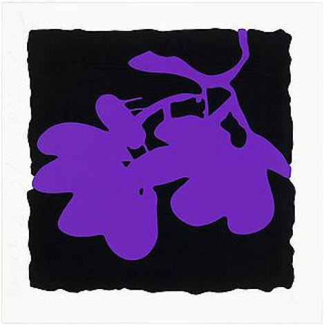 lantern flowers- purple, may 10, 2012 by donald sultan