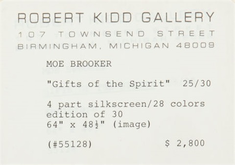 gift of the spirit 4 works by moe brooker