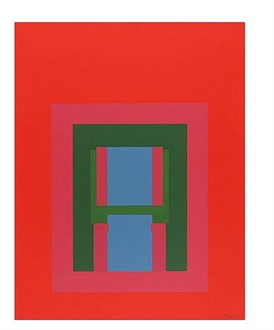 paradise suite, untitled i (red w/ pink + green inner) by robyn denny