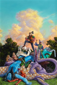 jason cosmo, book cover by richard hescox