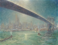 queensboro bridge nocturne by johann berthelsen