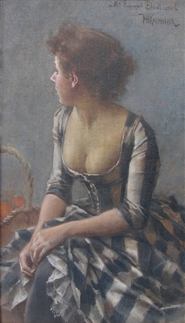 portrait of a woman by frederik hendrik kaemmerer