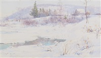 snow and open water by walter launt palmer