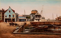 the plaza basin, st. augustine florida by frank henry shapleigh