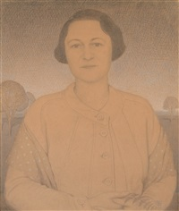 mrs. donald macmurray by grant wood
