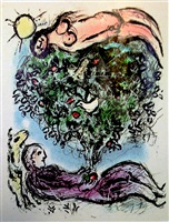 the flowering tree by marc chagall