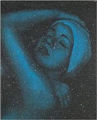 shower - blue by carole a. feuerman
