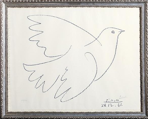 blue dove by pablo picasso