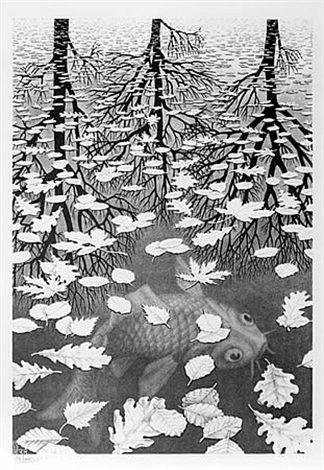 three worlds by m. c. escher