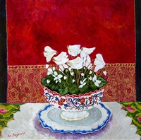 victorian bowl & jaipur silk by sue fitzgerald