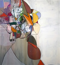 diagonal portrait by george condo