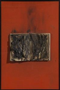 livre brule (on red) by bernard aubertin