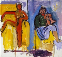 two figures by robert de niro, sr.