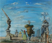 imaginary view of rome by eugene berman
