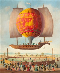 hot air balloon by victor philippe francois lemoine-benoit