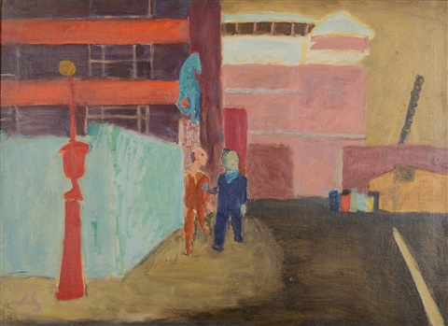 aspca: street near bellevue by joseph solman