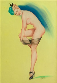 nude in heels by cardwell spencer higgins