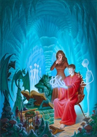 the sorcerer's heir, paperback cover by james warhola