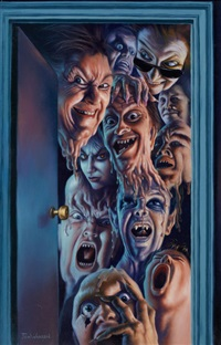 waxwork, movie poster and video cassette illustration by jim warren