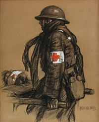 red cross medic by angus peter macdonall