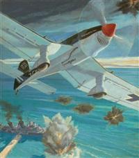 plane in flight by courtney allen