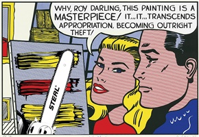 roy lichtenstein (allegedly). why, roy darling by hugh brown