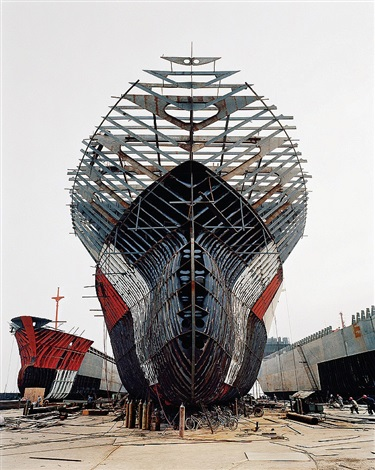 shipyard #11, qili port, zhejiang province, china by edward burtynsky