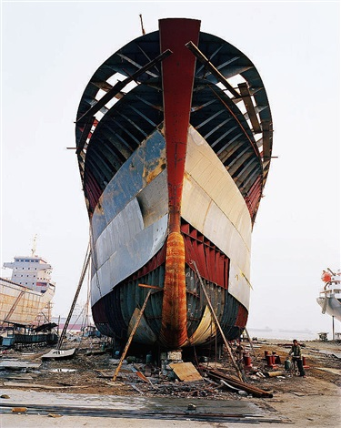shipyard #13, qili port, zhejiang province, china by edward burtynsky
