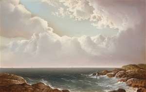breezy day at the coast by george douglas brewerton