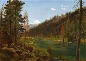 truckee river, sierra nevada mountains by gilbert munger