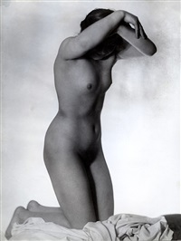 untitled (kneeling nude) by frantisek drtikol