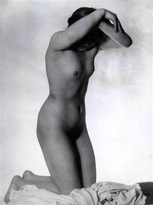 untitled (kneeling nude) by frantisek drtikol