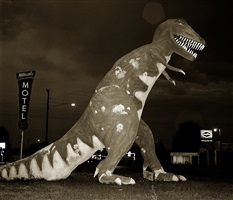 dinosaur, highway 40, vernal, utah by steve fitch