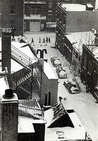 mcdougal alley, washington square by andré kertész
