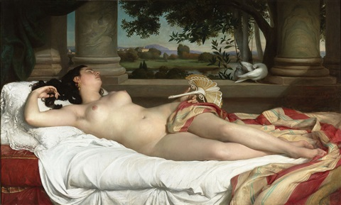 femme romaine endormie (sleeping roman woman) by félix auguste clément
