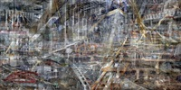 concrete abstract #7: world trade center panorama by shai kremer