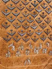 guillotined b-52 bombers at the 'bone yard', tucson, arizona by alex s. maclean