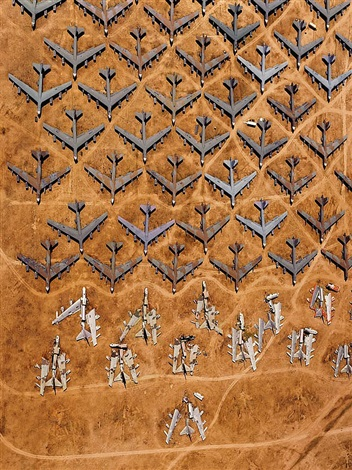 guillotined b-52 bombers at the 'bone yard', tucson, arizona by alex s. maclean