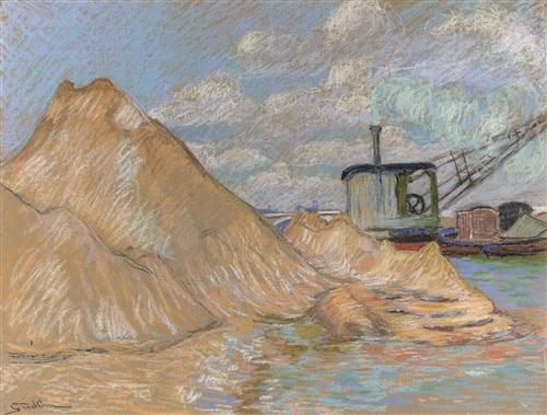 bord de la seine, a paris by armand guillaumin