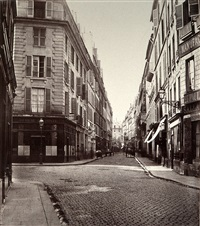 rue du helder (de la rue taitbout) by charles marville