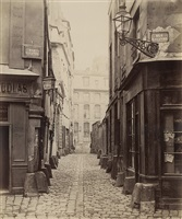 rue saint-julien-le-pauvre de la rue galande by charles marville